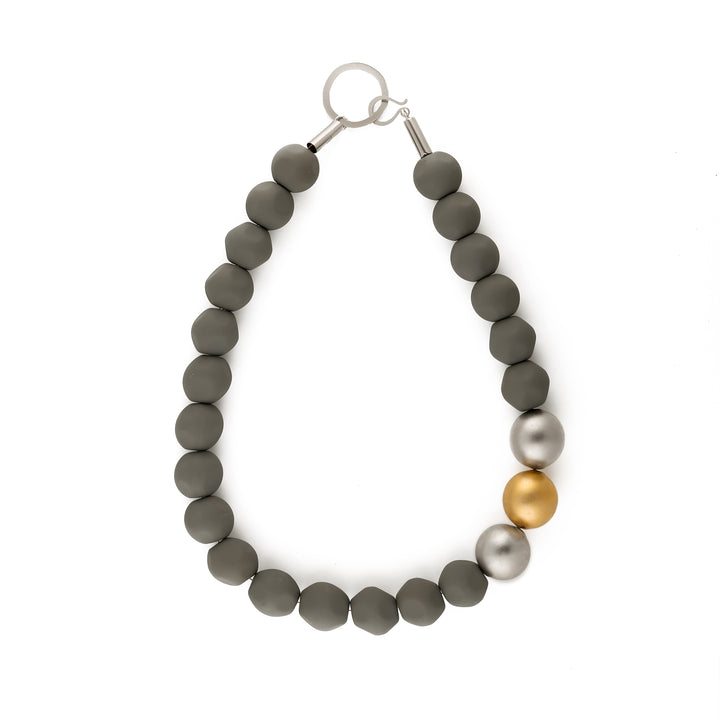 Laura - Asymmetric bead collar necklace