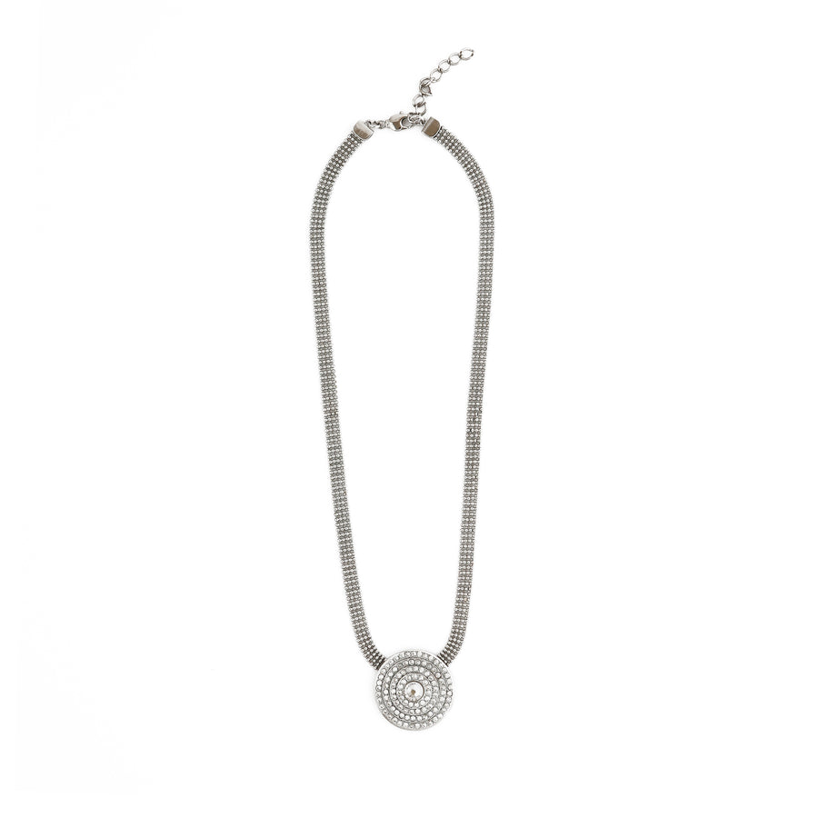 Emily pave crystal pendant necklace