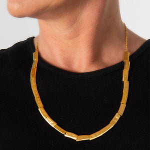 Ruth - Modern gold rectangles collar necklace