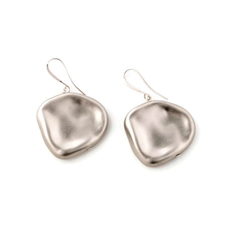 Zoey -  Sterling Silver Rose Petal Shaped Dangle Earrings