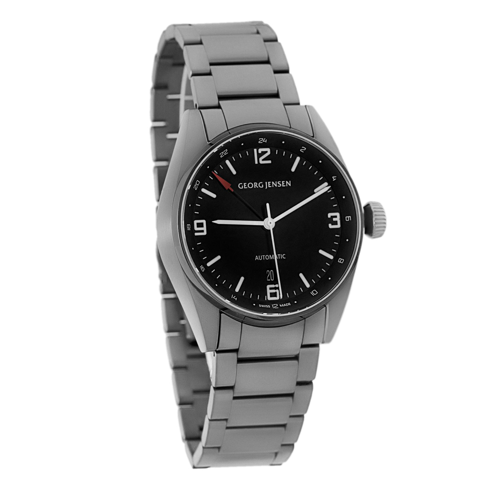 Georg Jensen Delta Classic Dual Time Men's Automatic GMT Watch Swiss Made 3575606