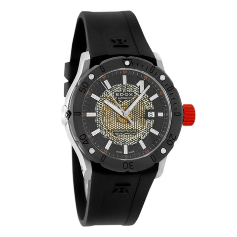 Edox Men's 500M Diver Chronoffshore-1 Automatic Watch Helium Valve 80099 3R NIN