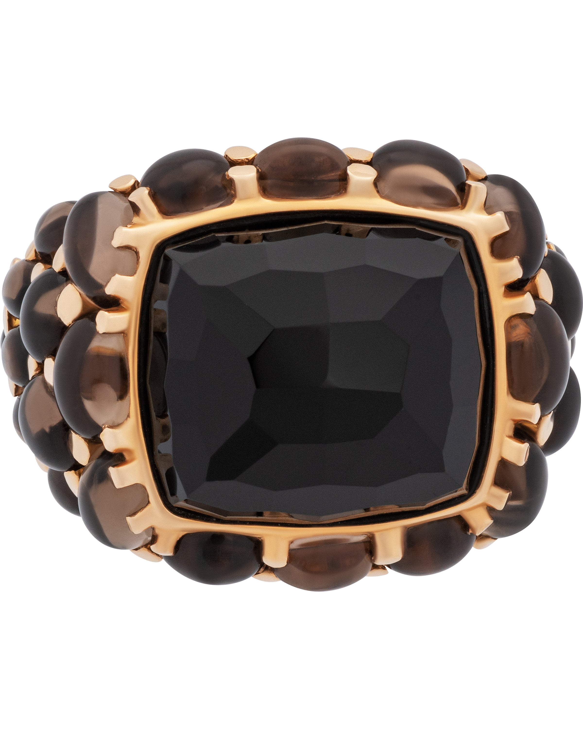 Mimi Milano 18k Rose Gold Quartz and Agate Ring A151RO8F