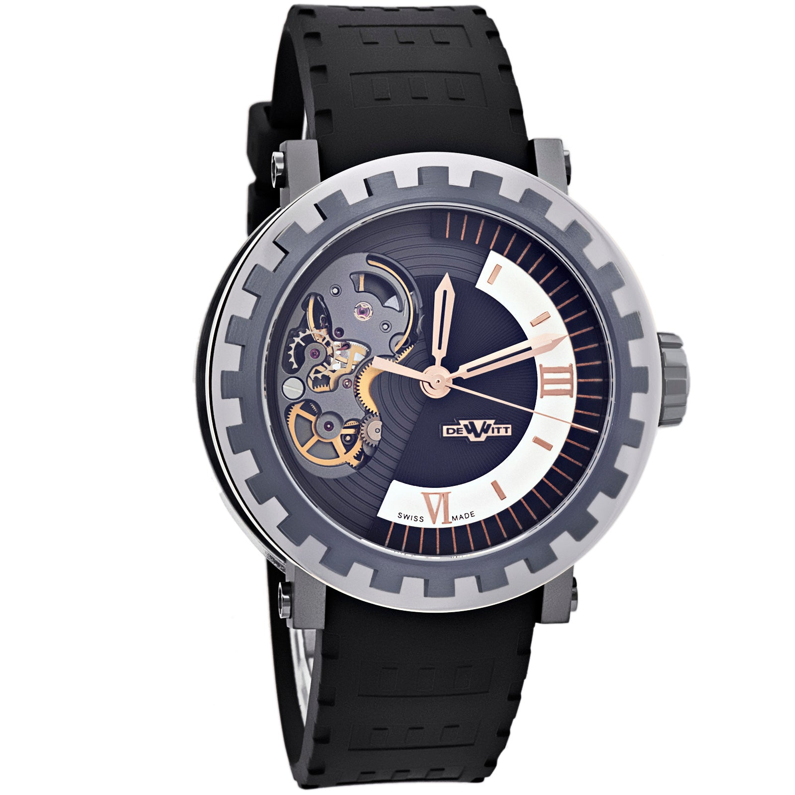 Academia Mirabilis Skeleton Mens AC.MI.004 Automatic Titanium Gold Watch-Luxury Watches | Mens And Ladies Luxury Watches | Upscale Time