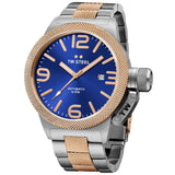 Canteen Bracelet Rose Gold Blue Dial Automatic Men's Watch CB145-Luxury Watches | Mens And Ladies Luxury Watches | Upscale Time