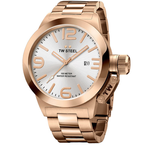 Canteen Bracelet Rose Gold Plated Silver Dial Quartz Men's Watch CB161-Luxury Watches | Mens And Ladies Luxury Watches | Upscale Time