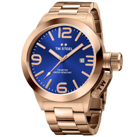 Canteen Bracelet Rose Gold Plated Blue Dial Quartz Men's Watch CB181-Luxury Watches | Mens And Ladies Luxury Watches | Upscale Time