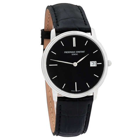 Slim Line Black Sunray FC-220NG4S6 Men's Swiss Made Watch-Luxury Watches | Mens And Ladies Luxury Watches | Upscale Time