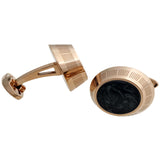 Miya Rose Gold Black Enamel Cufflinks IDMYCLRC-Luxury Watches | Mens And Ladies Luxury Watches | Upscale Time