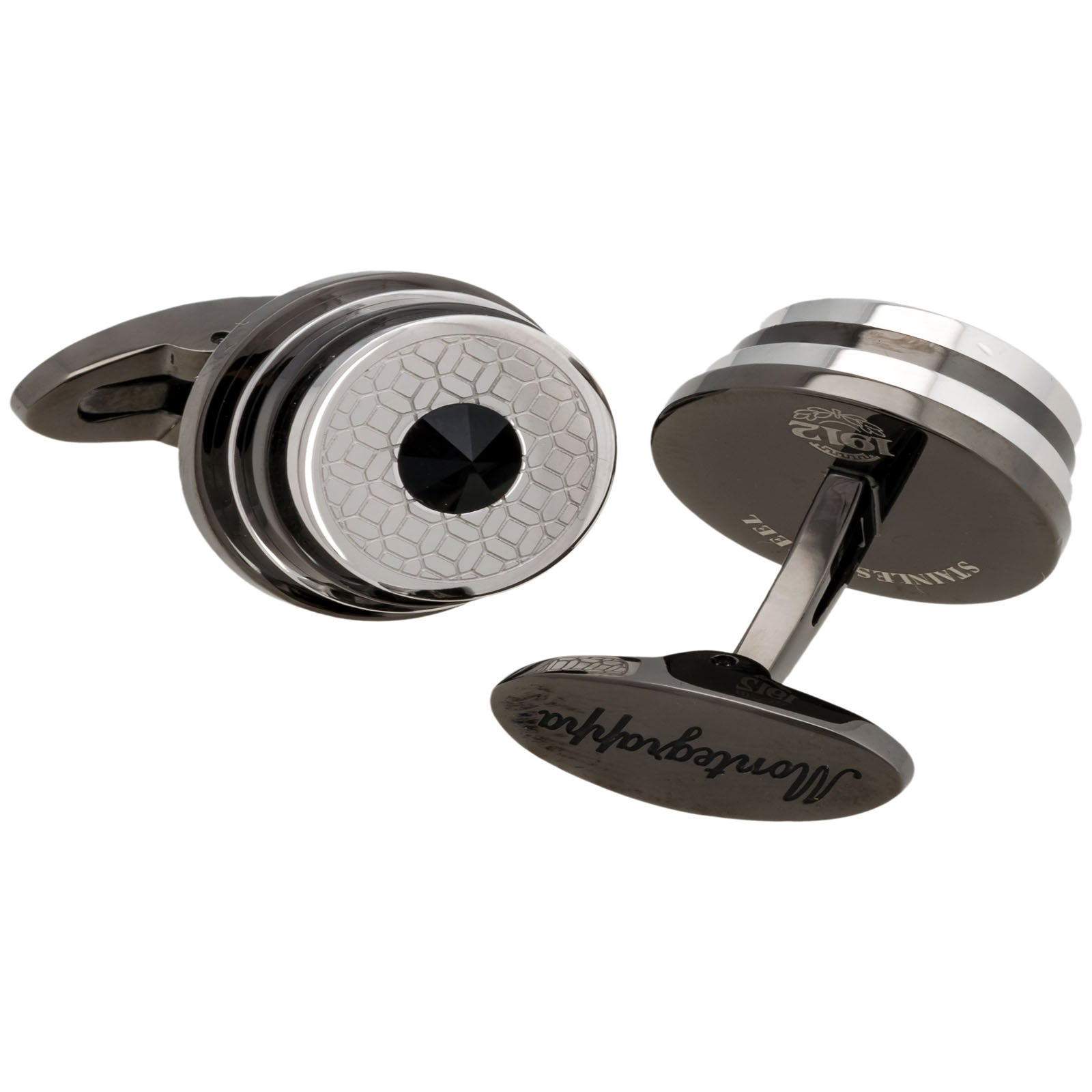 Stairway Stainless Gunmetal PVD Cufflinks IDSPCLPL MADE IN ITALY-Luxury Watches | Mens And Ladies Luxury Watches | Upscale Time