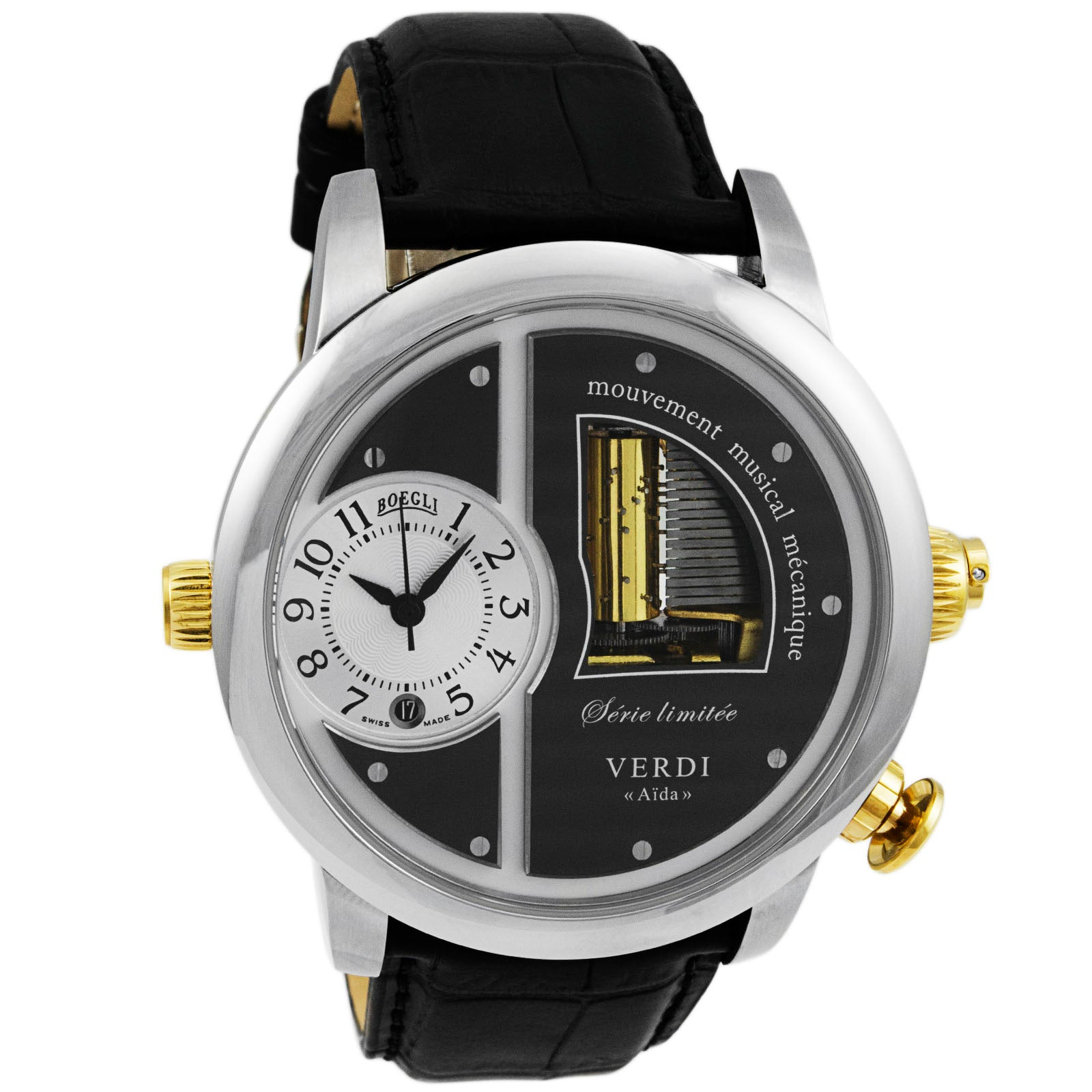 "Grand Opera Verdi ""Aida"" Limited Edition Stainless Steel Automatic Men's Watch M.904-Luxury Watches 