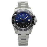 Aquacy 1769 Hei Matau Men's Automatic 300M Half Blue Black Dive Watch Miyota 9015 1769.HBLB.B.S