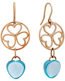 Mimi Milano 18K Rose Gold and Sky Blue Topaz Earrings O284R8T