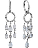 Mimi Milano 18k White Gold, Diamonds And White Topaz Earrings O381B8T1B