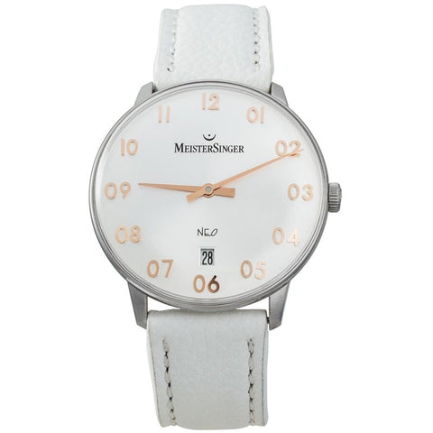 NEO Ladies Automatic Leather Date Watch NEF201G German Swiss Made-Luxury Watches | Mens And Ladies Luxury Watches | Upscale Time