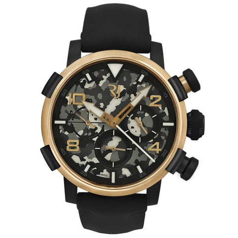 Pinup DNA Red Gold WWII Kate Stripes Chrono Auto RJ.P.CH.003.01-Luxury Watches | Mens And Ladies Luxury Watches | Upscale Time