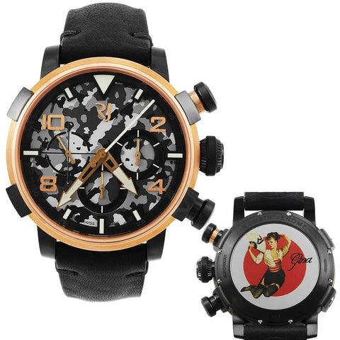Pinup DNA Red Gold WWII Gina Fan Chronograph Automatic Men's Watch RJ.P.CH.003.01-Luxury Watches | Mens And Ladies Luxury Watches | Upscale Time