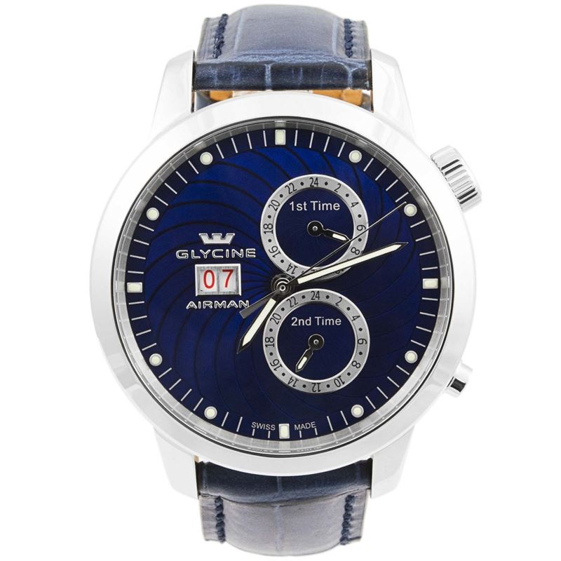 Airman 7 Blue Multiple Timezones Automatic Men's Watch 3919.18-Luxury Watches | Mens And Ladies Luxury Watches | Upscale Time