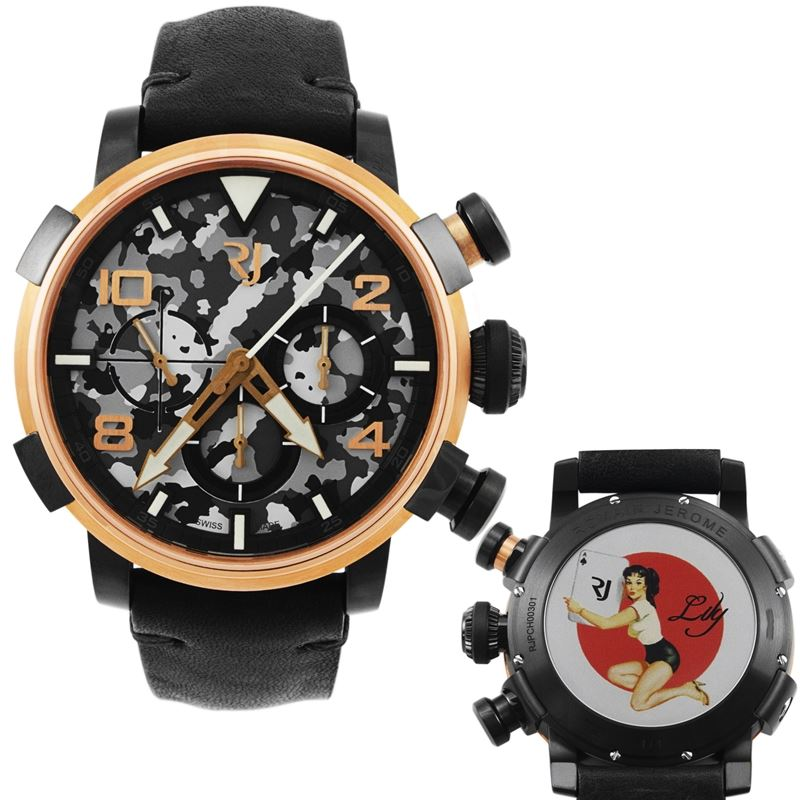 Pinup DNA Red Gold WWII Lily Card Chronograph Automatic Men's Watch RJ.P.CH.003.01-Luxury Watches | Mens And Ladies Luxury Watches | Upscale Time