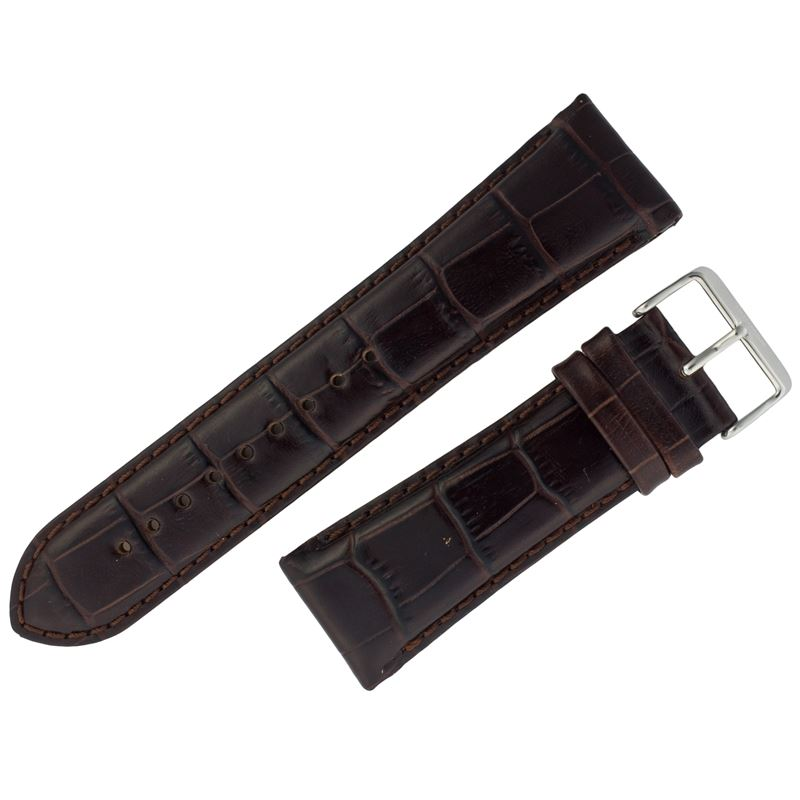 Assorted Brown Alligator Print Leather with Tang Buckle ASRTSTRP4-Luxury Watches | Mens And Ladies Luxury Watches | Upscale Time