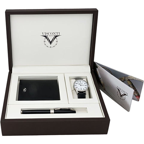 Set Rollerball Pen, Wallet, White Dial Quartz Men's Watch SS9210ILL03-Luxury Watches | Mens And Ladies Luxury Watches | Upscale Time