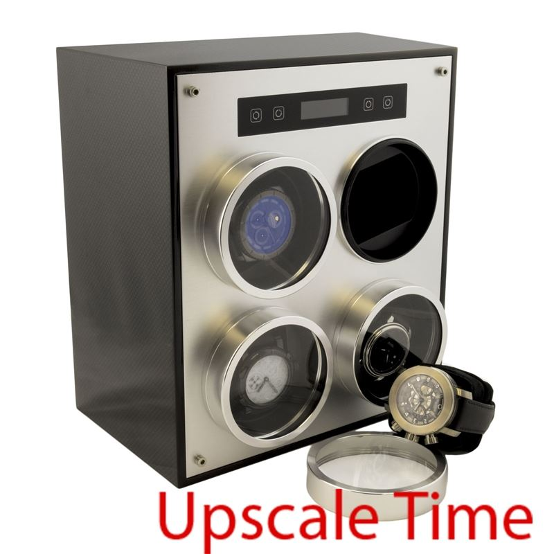 4­ Slot Aluminum Programmable Digital Bi­-directional Watch Winder-Luxury Watches | Mens And Ladies Luxury Watches | Upscale Time