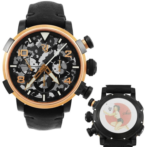 Pinup DNA Red Gold WWII Sue Card Chronograph Automatic Men's Watch RJ.P.CH.003.01-Luxury Watches | Mens And Ladies Luxury Watches | Upscale Time