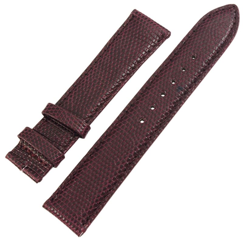 Burgundy Lizard Leather 18mm Women's Strap-Luxury Watches | Mens And Ladies Luxury Watches | Upscale Time