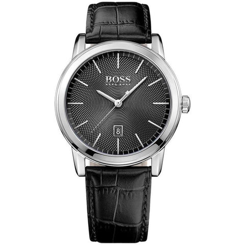 Boss Men's Classic Black Leather Strap Watch 1513397-Luxury Watches | Mens And Ladies Luxury Watches | Upscale Time
