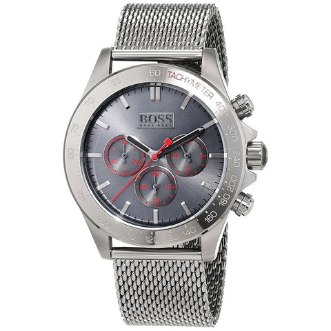 Men's Gunmetal Stainless-Steel Quartz Watch 1513443-Luxury Watches | Mens And Ladies Luxury Watches | Upscale Time