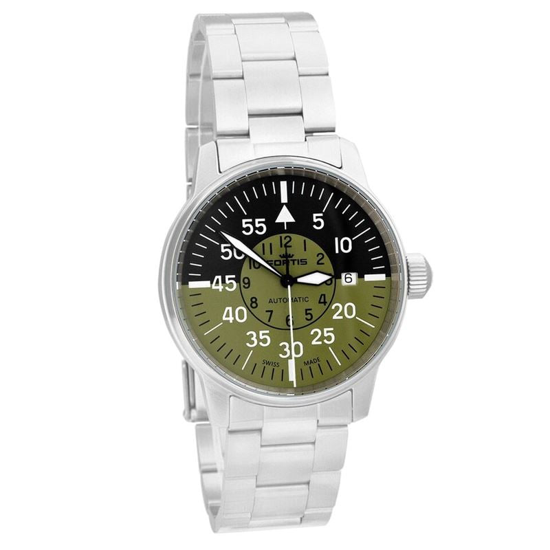 Aviatis Flieger Cockpit Green Automatic Men's Watch 595.11.16 M-Luxury Watches | Mens And Ladies Luxury Watches | Upscale Time