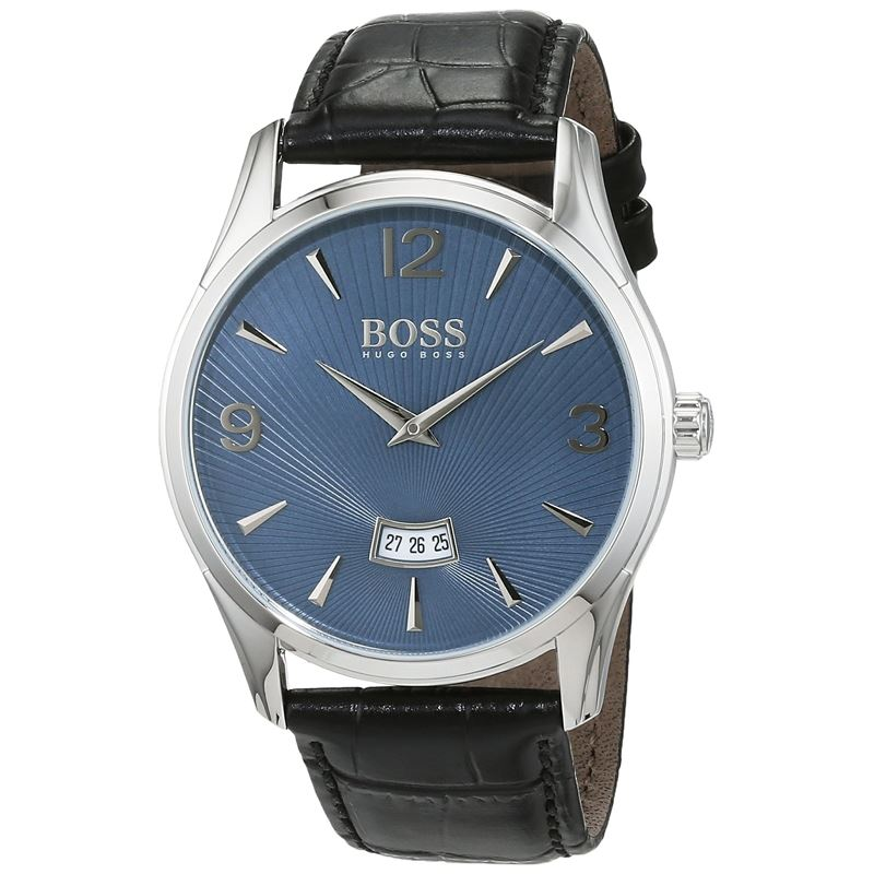 Men's Silver Leather Quartz Watch 1513427-Luxury Watches | Mens And Ladies Luxury Watches | Upscale Time