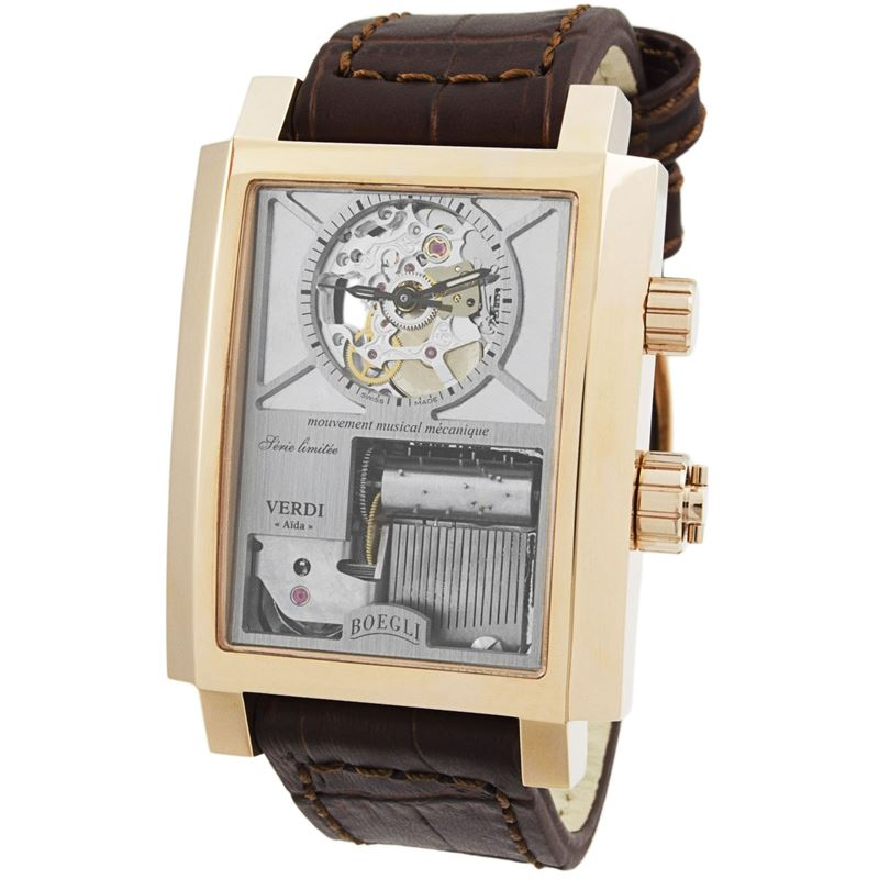 "Grand Festival Verdi ""Aida"" Manual Wound Men's Watch M.802-Luxury Watches 