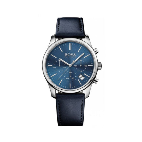 Time One Chronograph Steel Mens Strap Watch 1513431 Blue Dial/Date NWT-Luxury Watches | Mens And Ladies Luxury Watches | Upscale Time