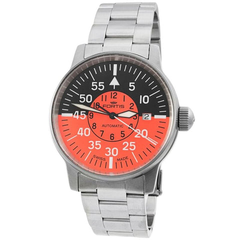 Aviatis Flieger Cockpit Orange Automatic Men's Watch 595.11.13 M-Luxury Watches | Mens And Ladies Luxury Watches | Upscale Time