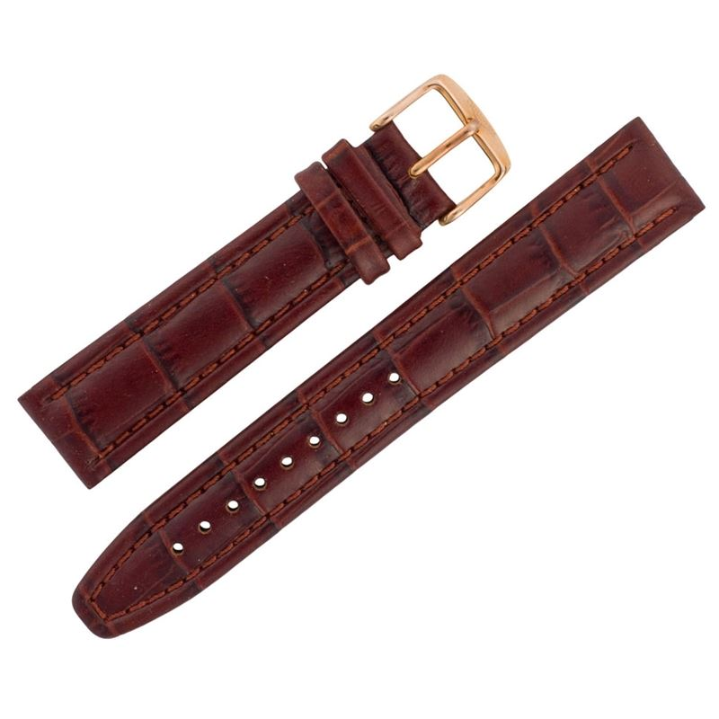 Assorted 20mm Alligator Print Brown Leather ASRTSTRP20-Luxury Watches | Mens And Ladies Luxury Watches | Upscale Time