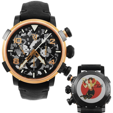 Pinup DNA Red Gold WWII Faith Fan Chronograph Automatic Men's Watch RJ.P.CH.003.01-Luxury Watches | Mens And Ladies Luxury Watches | Upscale Time