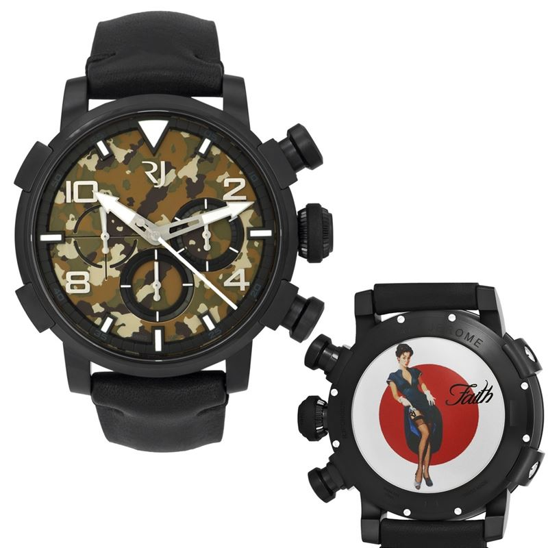 Pinup DNA WWII Faith Garter Chrono Auto Men Watch RJ.P.CH.002.01-Luxury Watches | Mens And Ladies Luxury Watches | Upscale Time