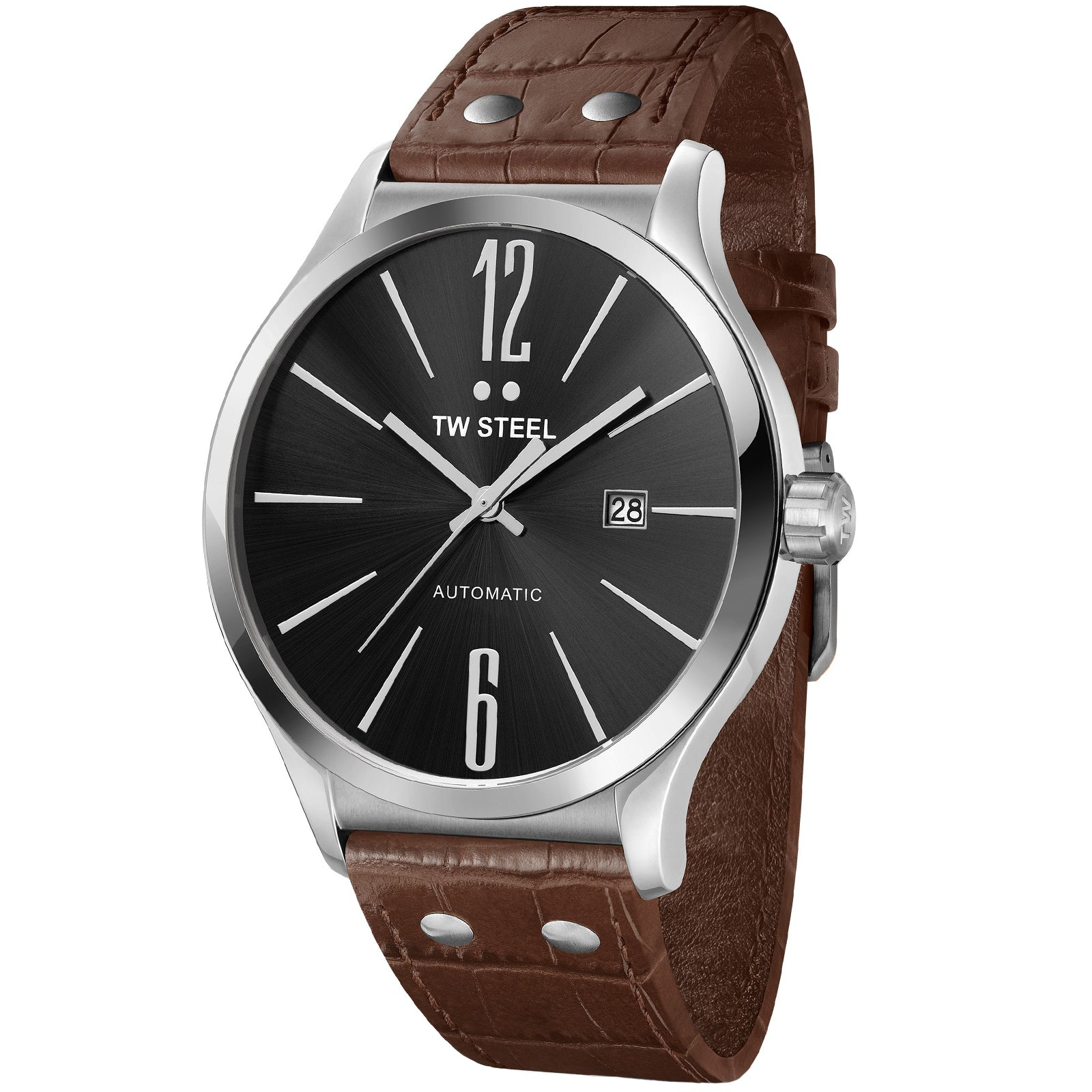 Slim Line Black Automatic Men's Watch TWA1310-Luxury Watches | Mens And Ladies Luxury Watches | Upscale Time
