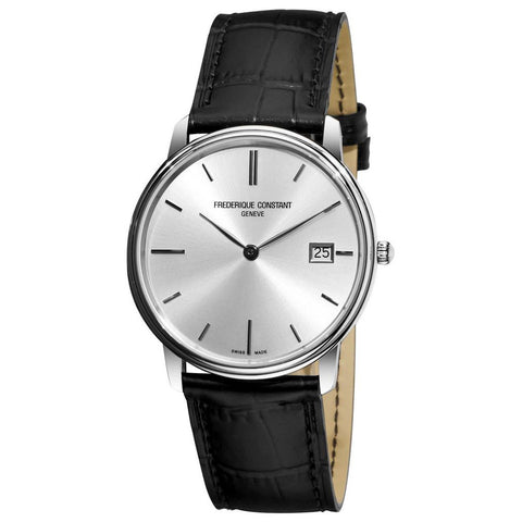 Slim Line Silver Dial Men's FC-220NS4S6 Swiss Made Watch-Luxury Watches | Mens And Ladies Luxury Watches | Upscale Time