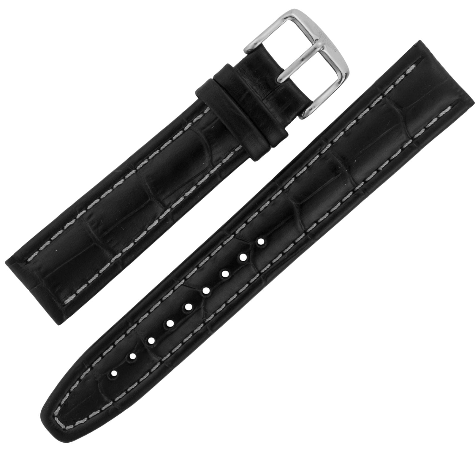Assorted 20mm Alligator Print Black Leather ASRTSTRP21-Luxury Watches | Mens And Ladies Luxury Watches | Upscale Time