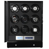Arcanent Watch Winder 9 + 2 Slot Black LCD Digital Quality Made With Ball Bearings-Luxury Watches | Mens And Ladies Luxury Watches | Upscale Time