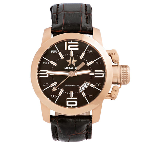 Chronometrie Initial Mens 47mm Swiss Made Rose Gold Watch 1340.47-Luxury Watches | Mens And Ladies Luxury Watches | Upscale Time