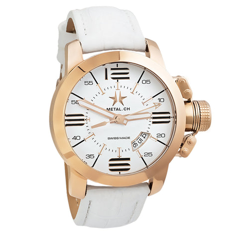 Chronometrie Initial Mens Swiss Made Rose Gold Watch 1310.44-Luxury Watches | Mens And Ladies Luxury Watches | Upscale Time