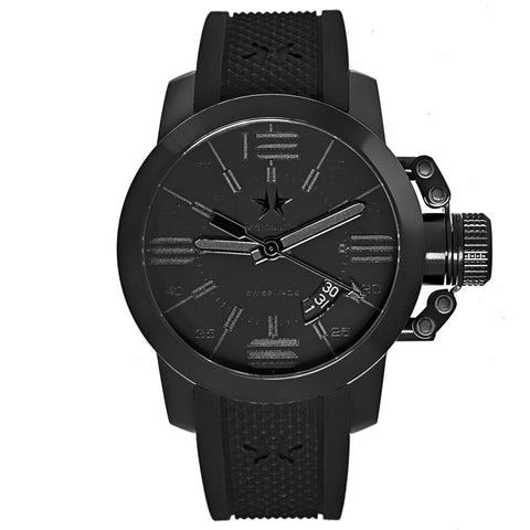 Chronometrie Initial Mens Swiss Made Black Rubber Watch 1420.44-Luxury Watches | Mens And Ladies Luxury Watches | Upscale Time