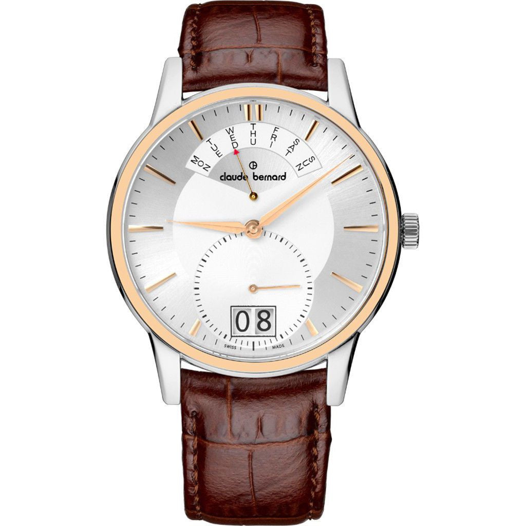 Claude Bernard By Edox Men's Classics Retrograde 34004.357R.AIR Swiss Made