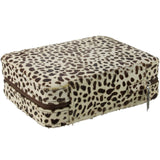 4 Watch Travel Case Box Horsehair Snow Leopard Pattern-Luxury Watches | Mens And Ladies Luxury Watches | Upscale Time