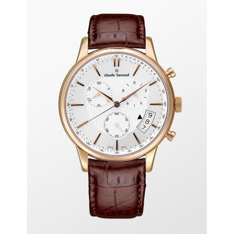 Claude Bernard By Edox Men's Classics 01002.37R.AIR Chronograph Swiss