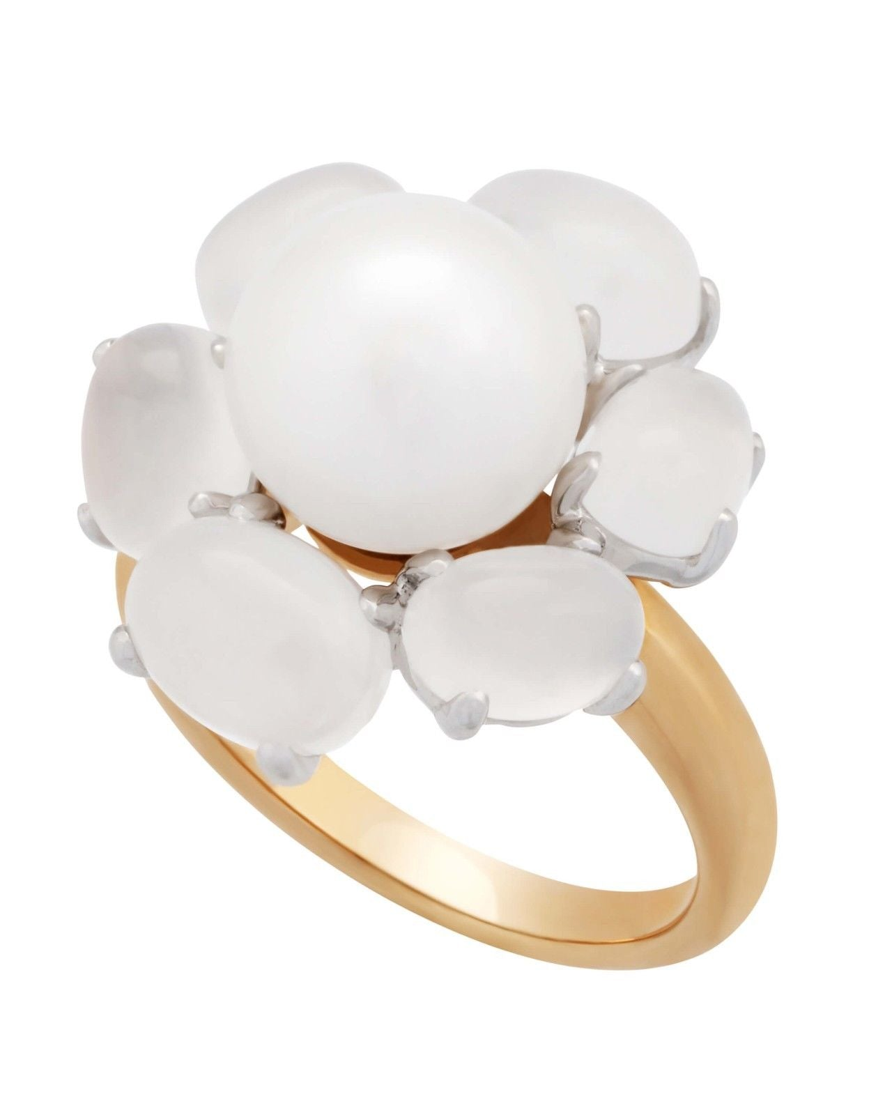 Mimi Milano Ring In 18K Rose Gold, Quartz White Freshwater Pearl A308C1QL