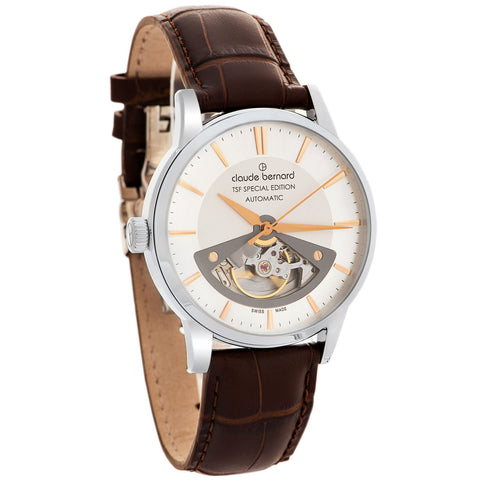 Claude Bernard By Edox Men's Open Heart Automatic 85017.3AIR TSF